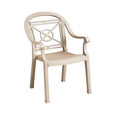 Grosfillex 46214066 chair, armchair, stacking, outdoor