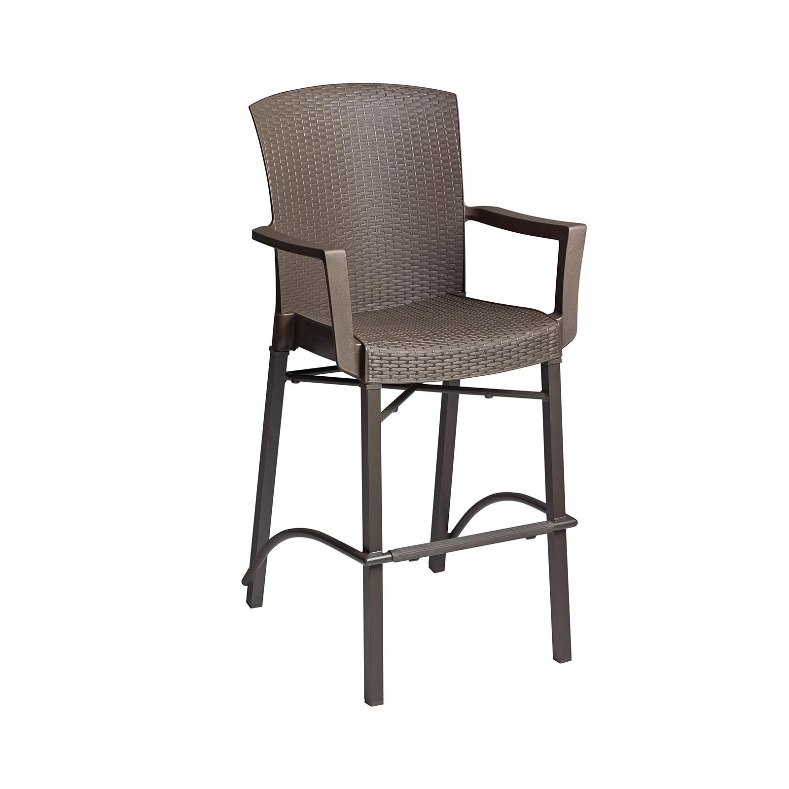 Grosfillex 48260002 bar stool, outdoor