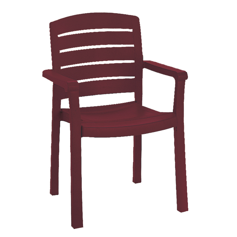 Grosfillex US119067 chair, armchair, stacking, outdoor