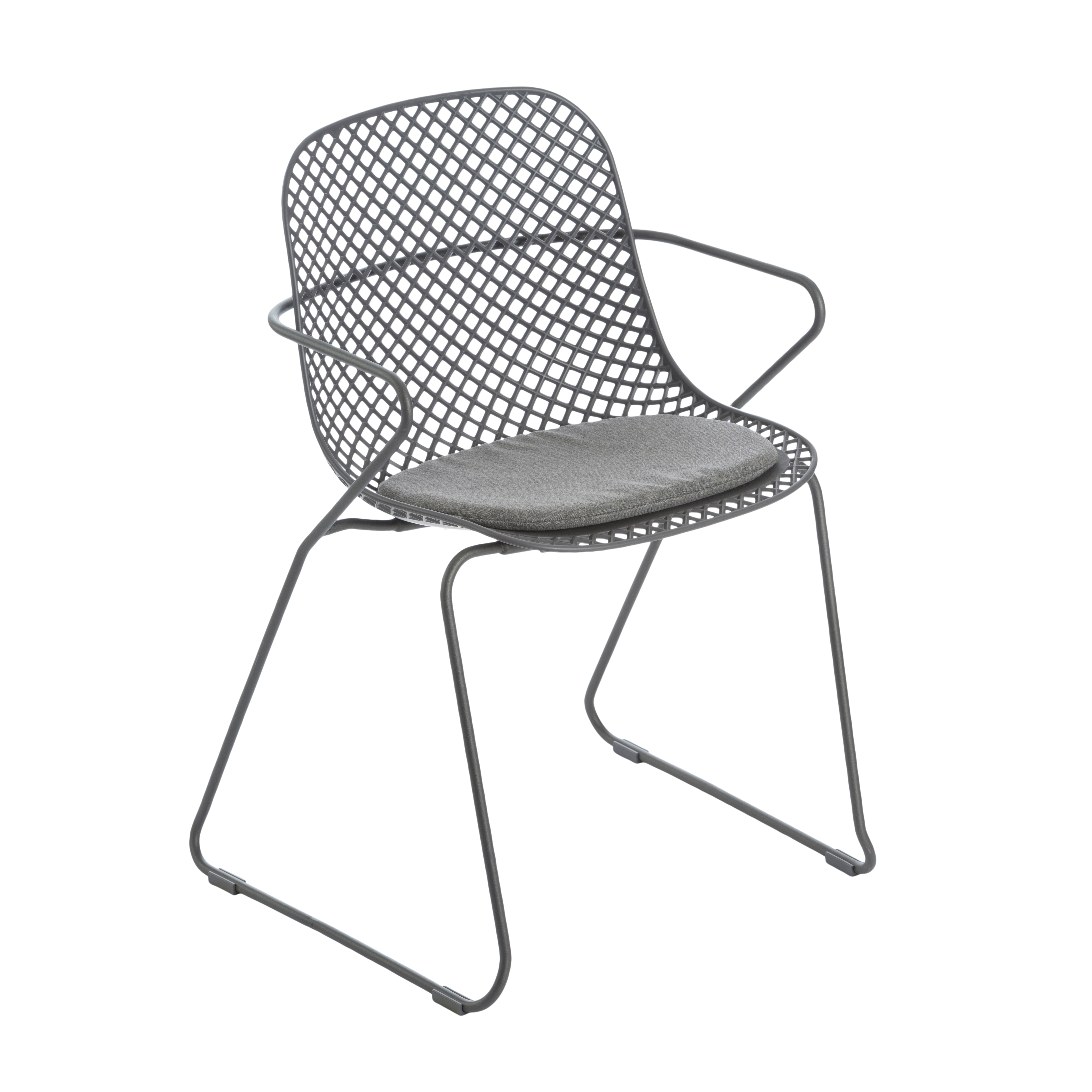 Grosfillex US136713 chair, armchair, stacking, outdoor