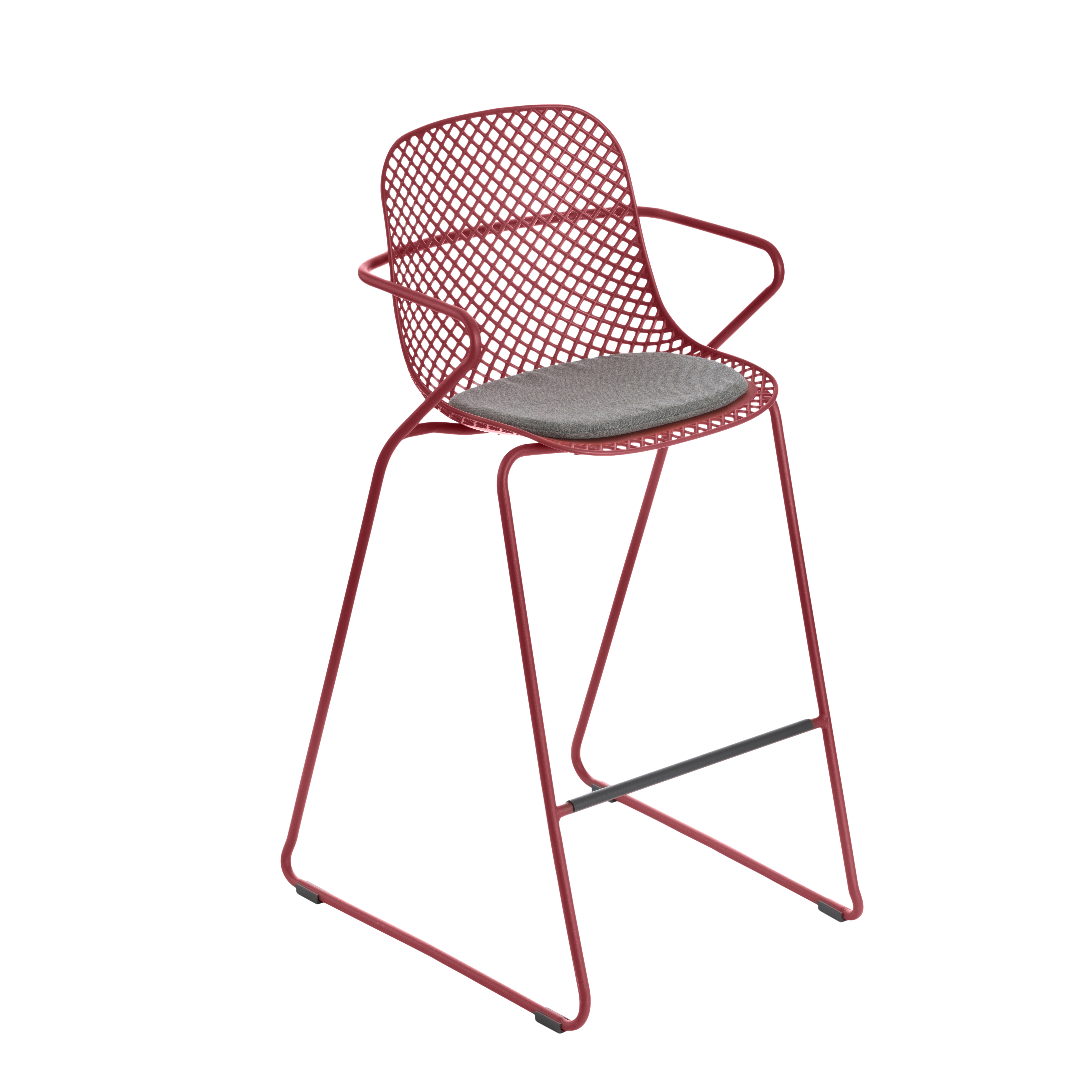 Grosfillex US139712 bar stool, stacking, outdoor