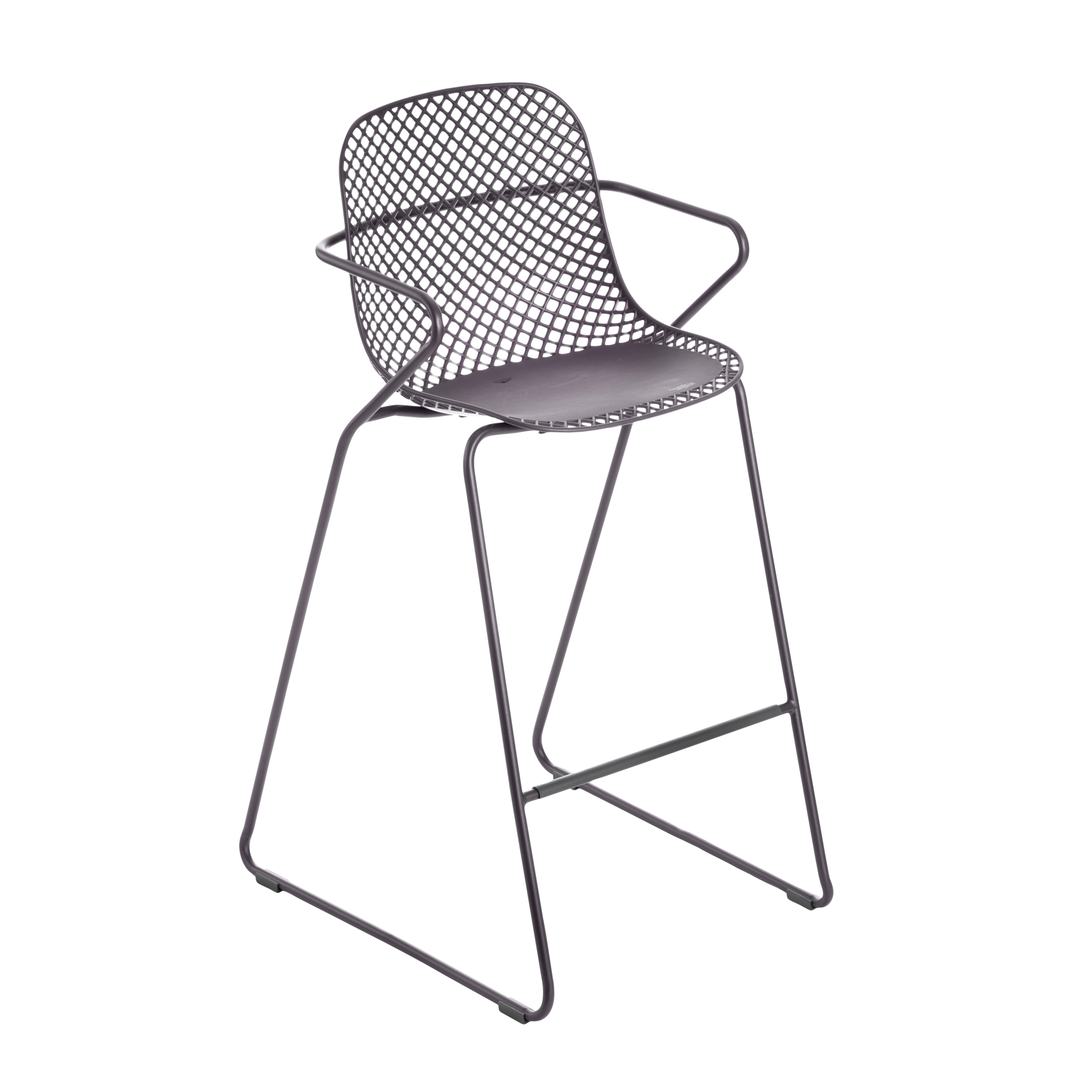 Grosfillex US139713 bar stool, stacking, outdoor