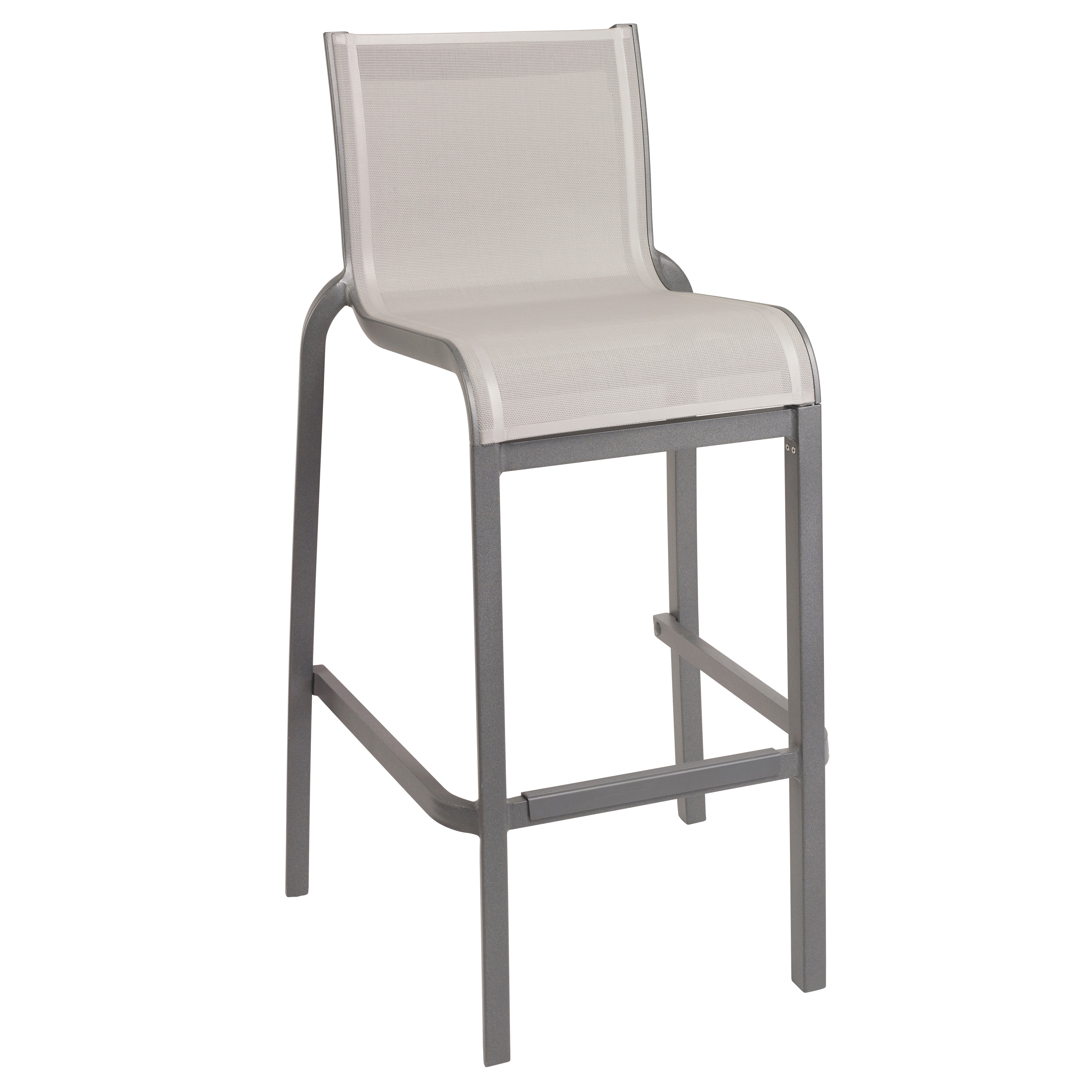 Grosfillex US300289 bar stool, stacking, outdoor