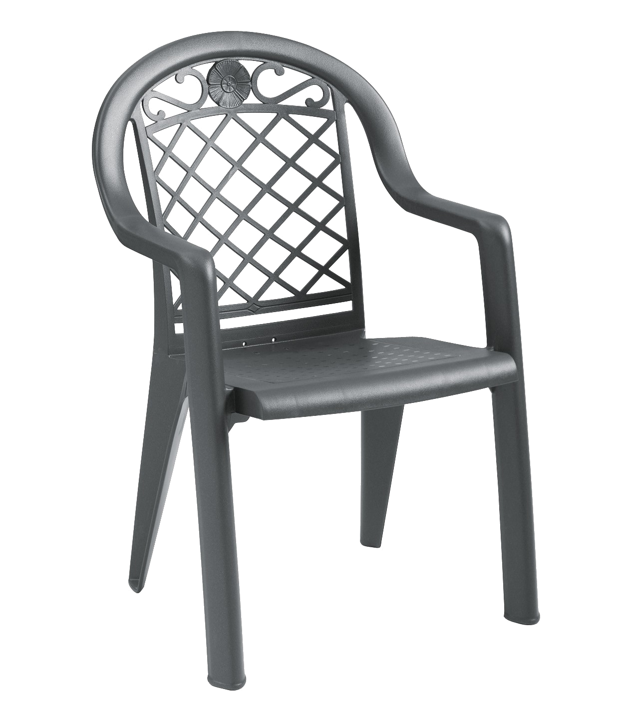 Grosfillex US413102 chair, armchair, stacking, outdoor