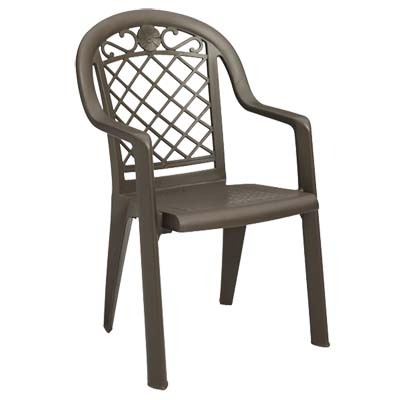 Grosfillex US413137 chair, armchair, stacking, outdoor