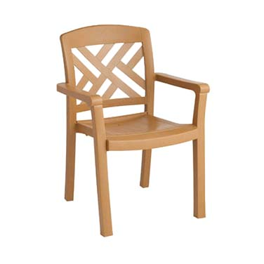 Grosfillex US451408 chair, armchair, stacking, outdoor