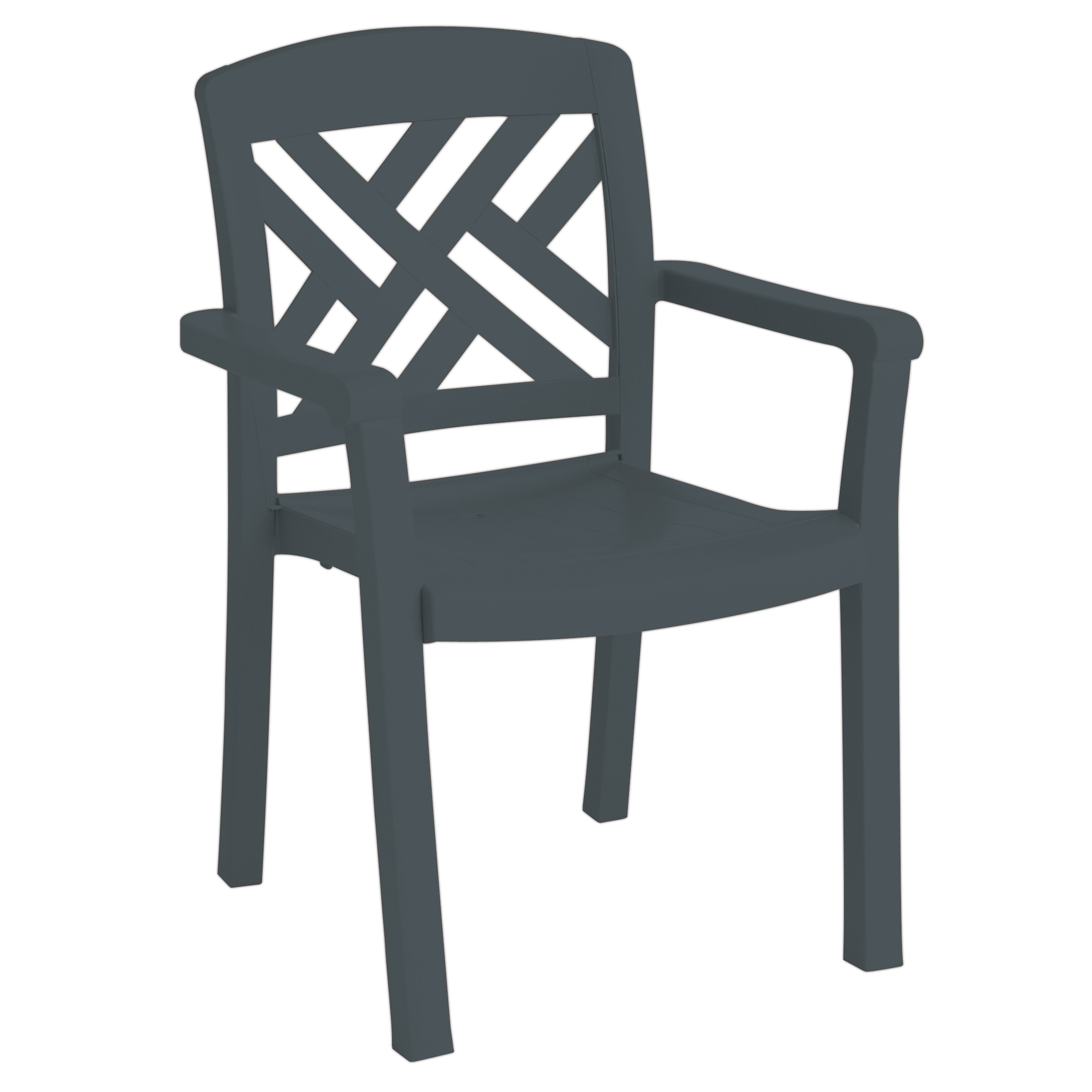 Grosfillex US452002 chair, armchair, stacking, outdoor