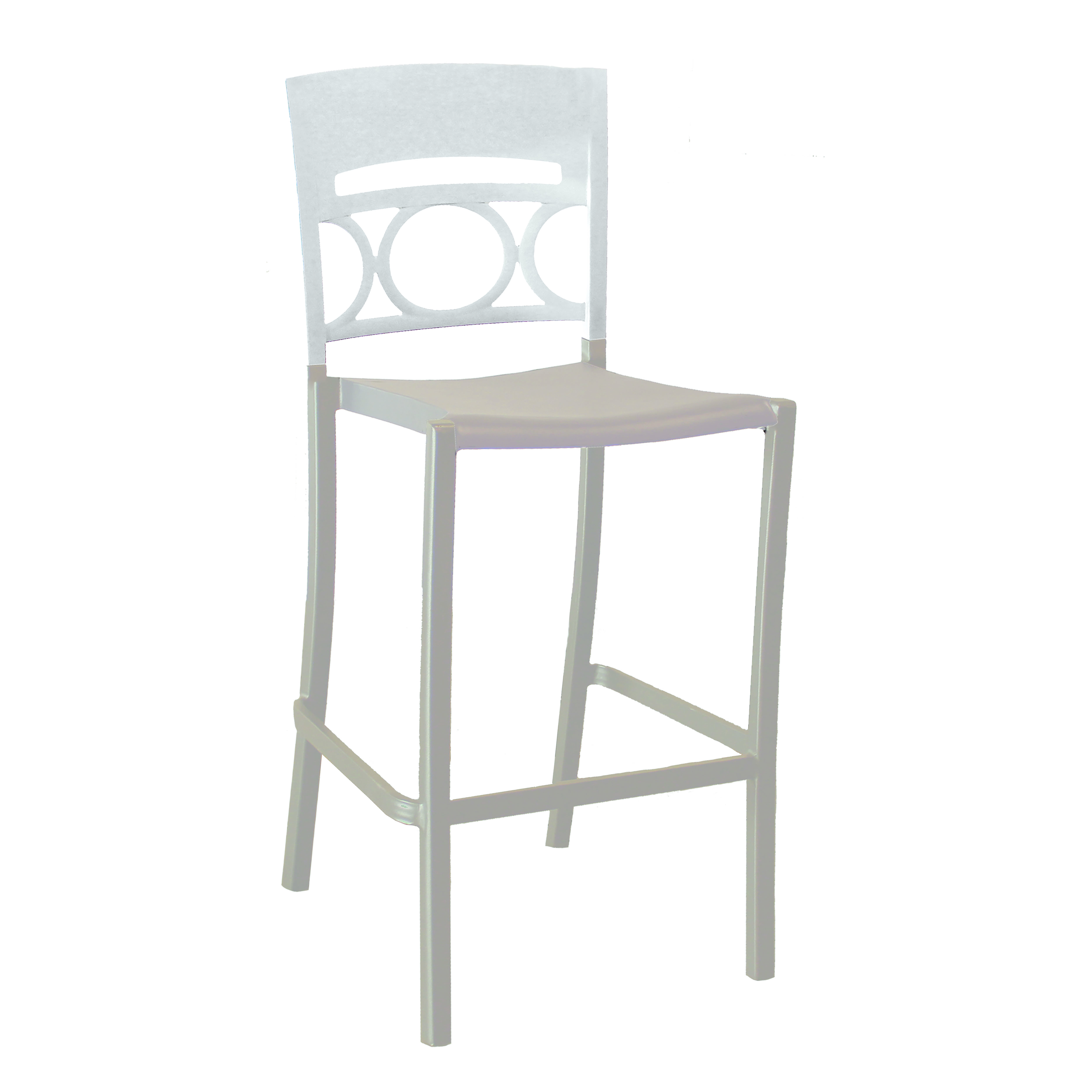 Grosfillex US456096 bar stool, stacking, outdoor