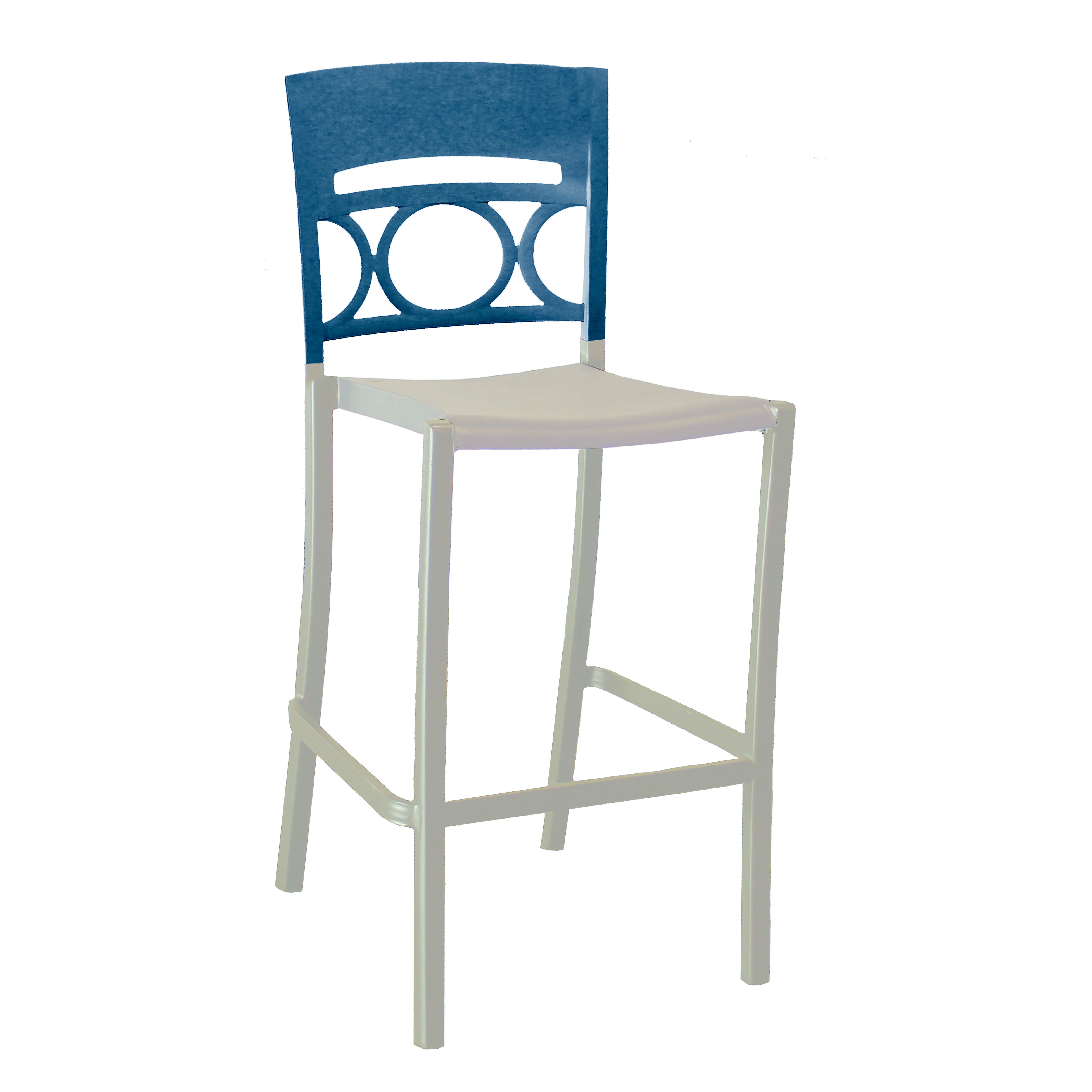 Grosfillex US456680 bar stool, stacking, outdoor
