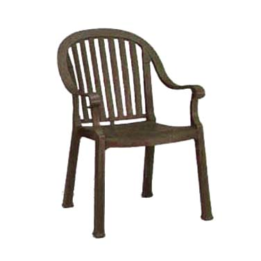 Grosfillex US496537 chair, armchair, stacking, outdoor