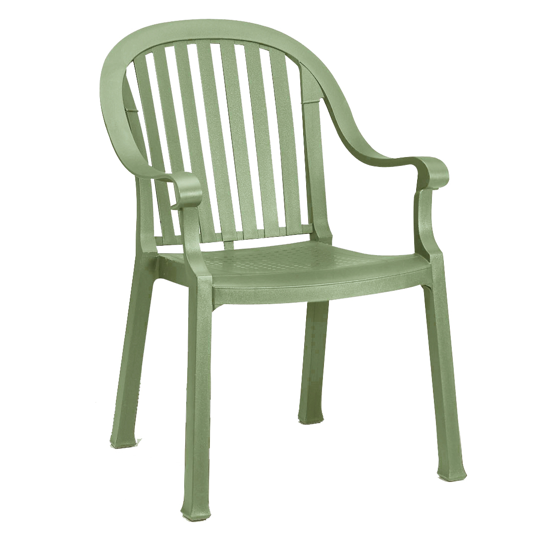 Grosfillex US496721 chair, armchair, stacking, outdoor