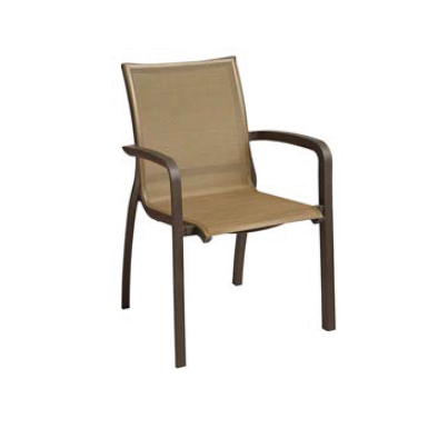 Grosfillex US546599 chair, armchair, stacking, outdoor