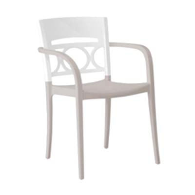 Grosfillex US556096 chair, armchair, stacking, outdoor