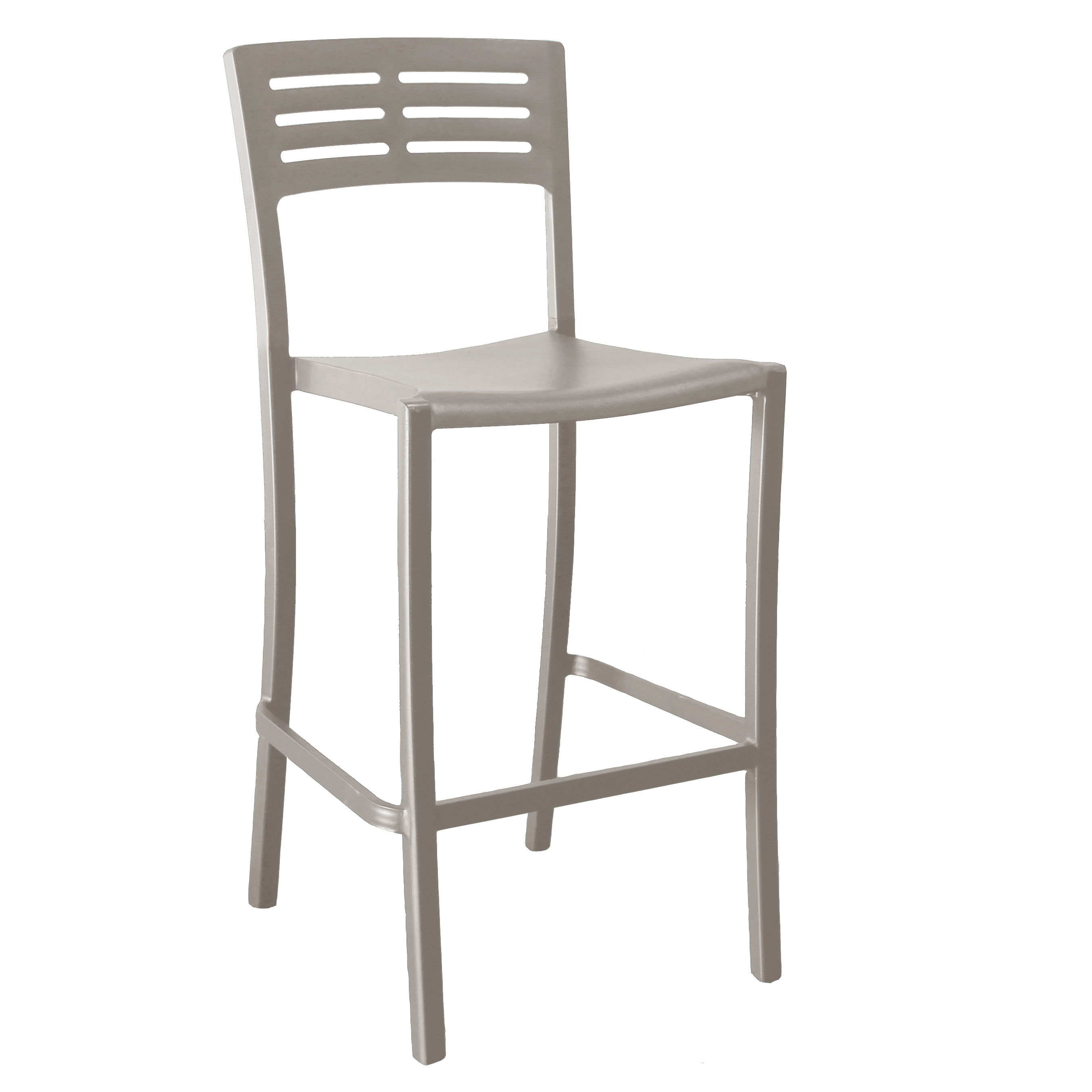 Grosfillex US638181 bar stool, stacking, outdoor