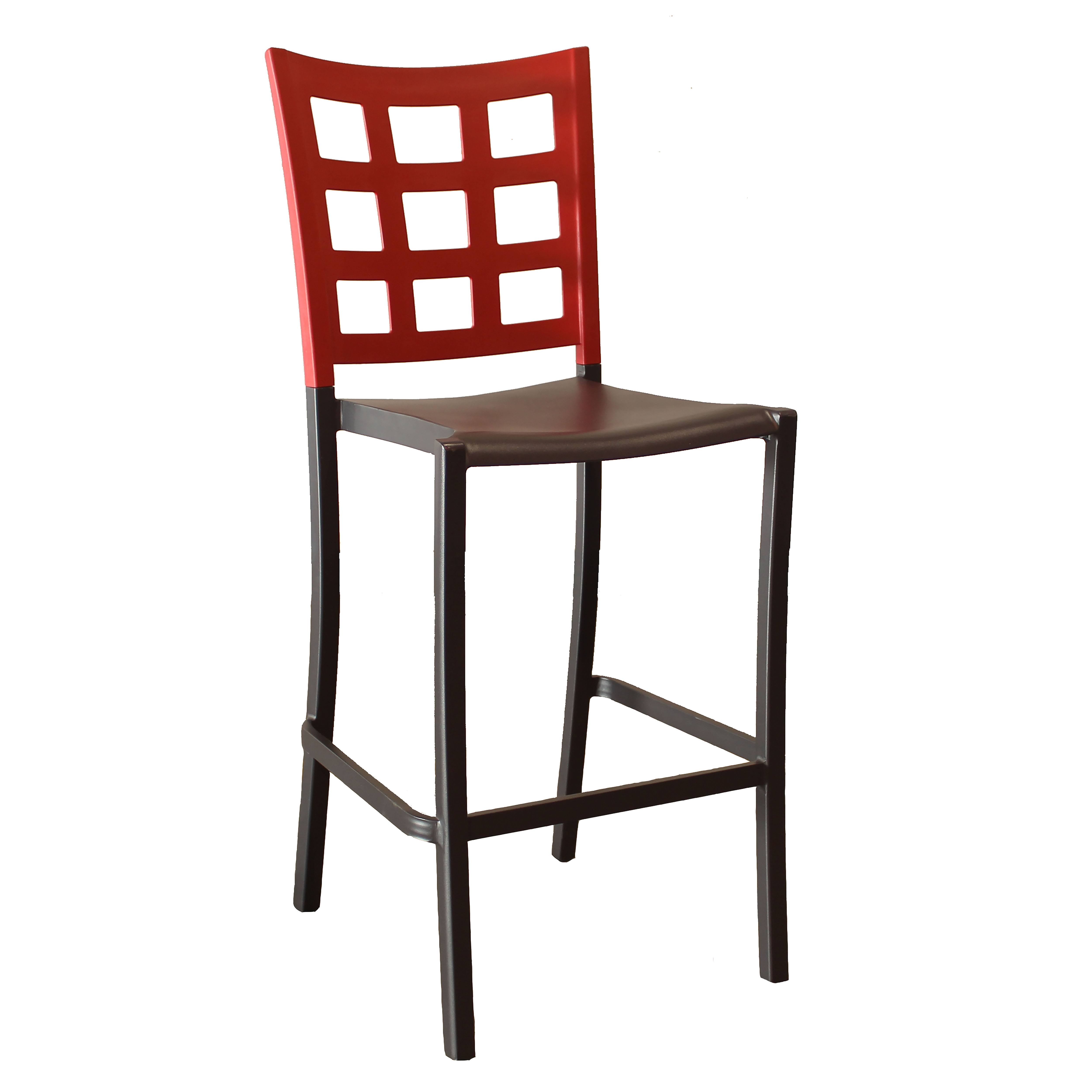 Grosfillex US640202 bar stool, stacking, indoor