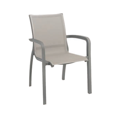 Grosfillex US646289 chair, armchair, stacking, outdoor