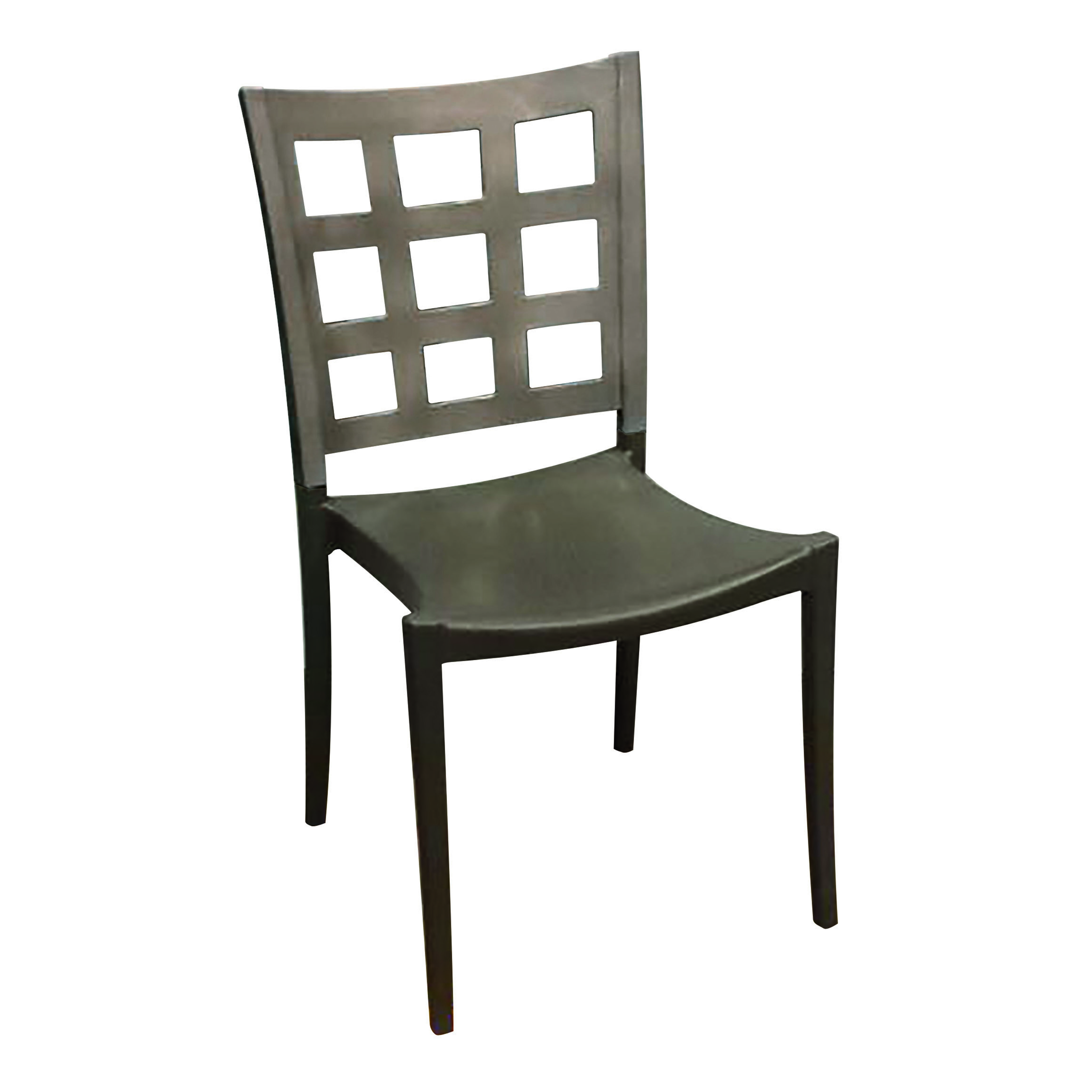 Grosfillex US647579 chair, side, stacking, indoor