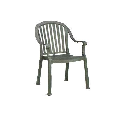 Grosfillex US650002 chair, armchair, stacking, outdoor