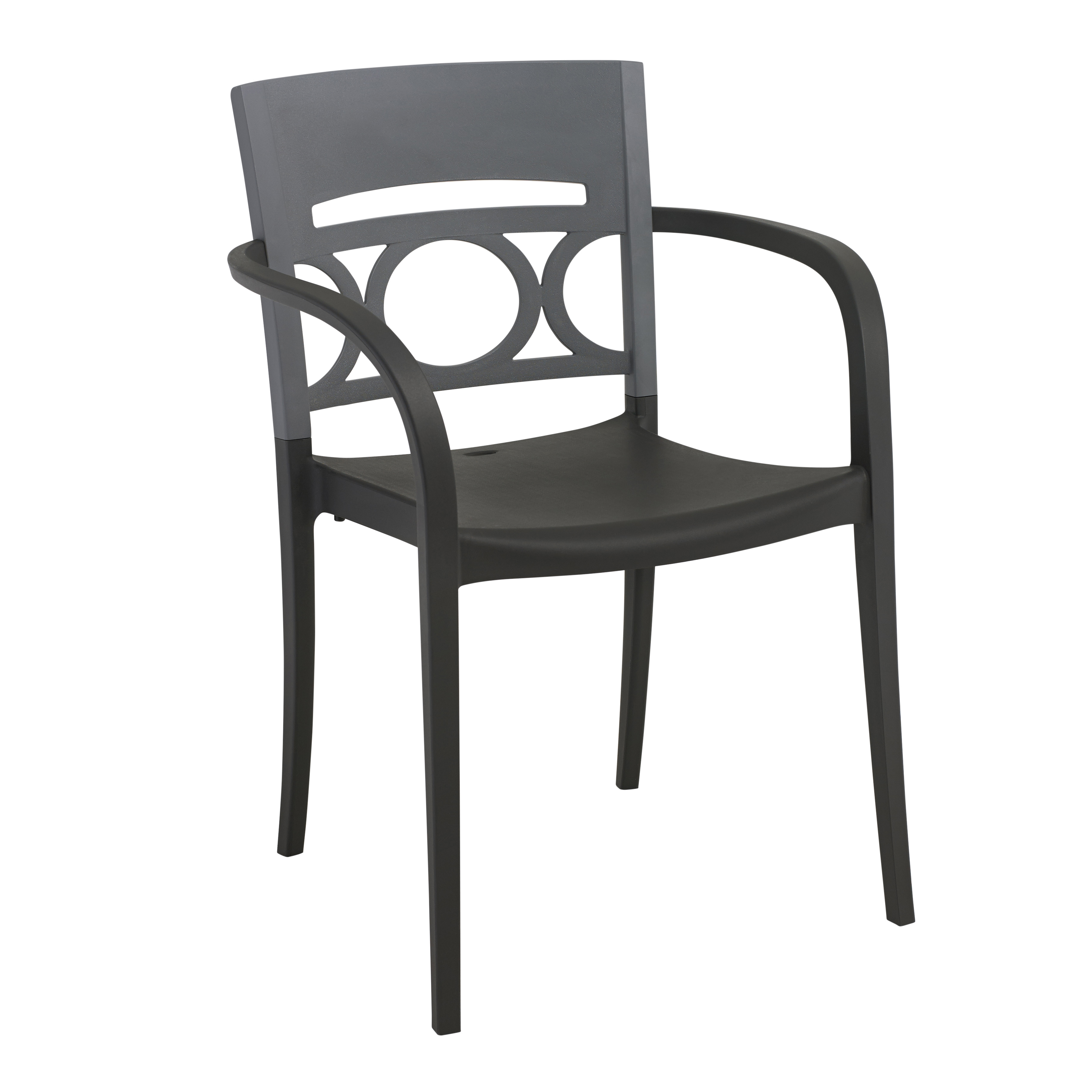 Grosfillex US655579 chair, armchair, stacking, outdoor