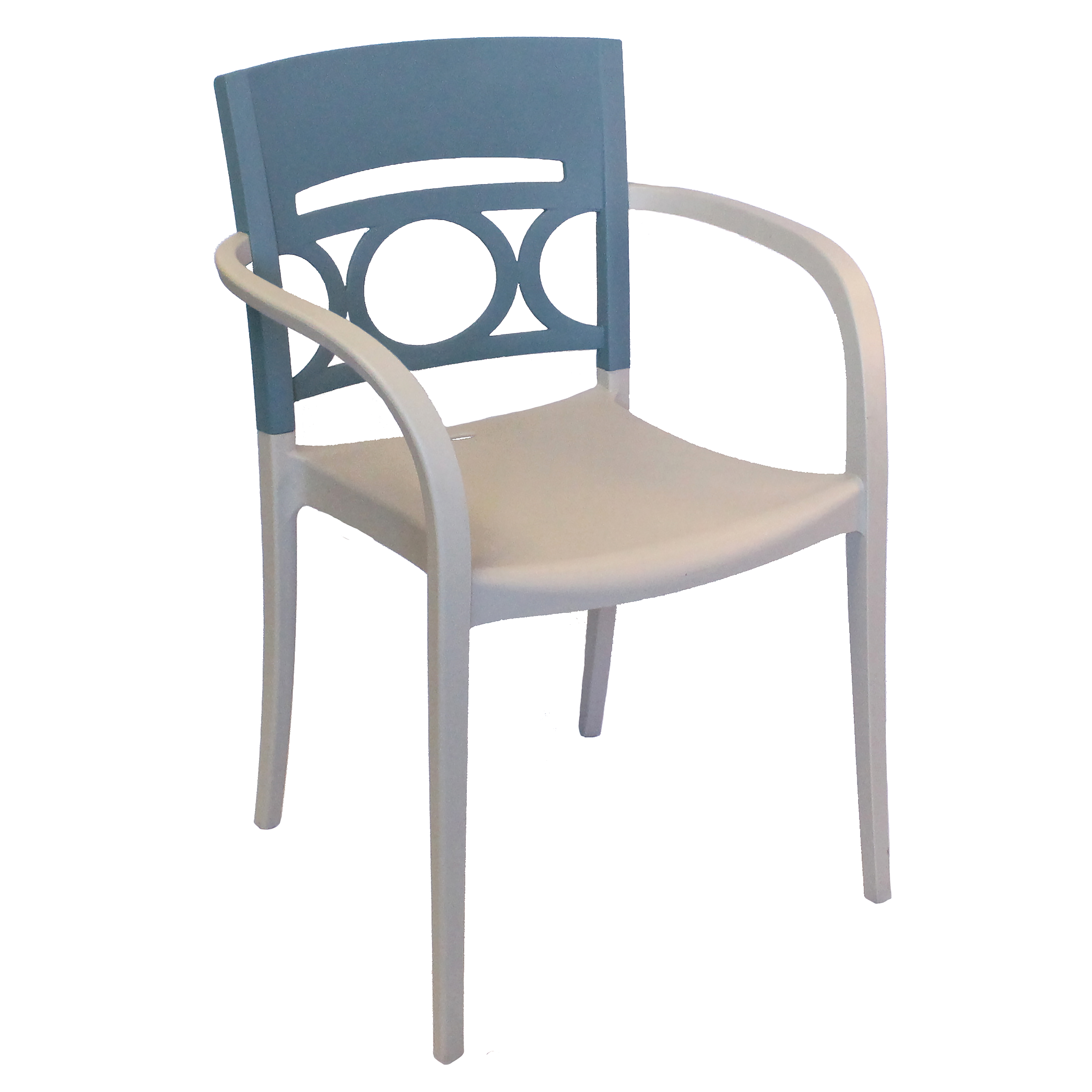 Grosfillex US655680 chair, armchair, stacking, outdoor