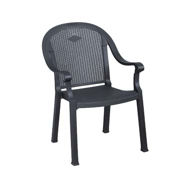 Grosfillex US720002 chair, armchair, stacking, outdoor
