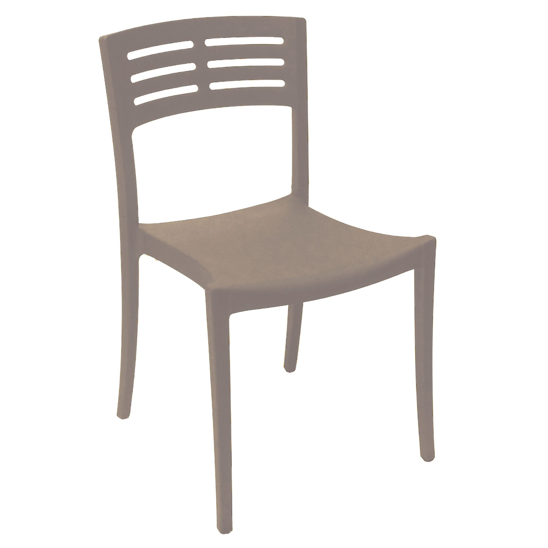 Grosfillex US738181 chair, side, stacking, outdoor