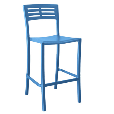 Grosfillex US739680 bar stool, stacking, outdoor