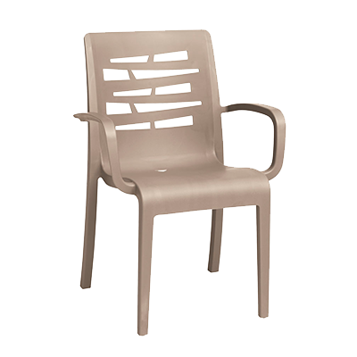 Grosfillex US811181 chair, armchair, stacking, outdoor