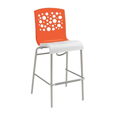Grosfillex US838019 bar stool, stacking, indoor