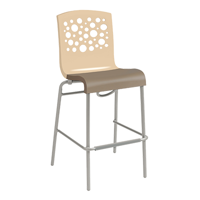 Grosfillex US838413 bar stool, stacking, indoor