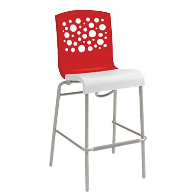 Grosfillex US838414 bar stool, stacking, indoor