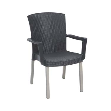 Grosfillex US903002 chair, armchair, stacking, outdoor