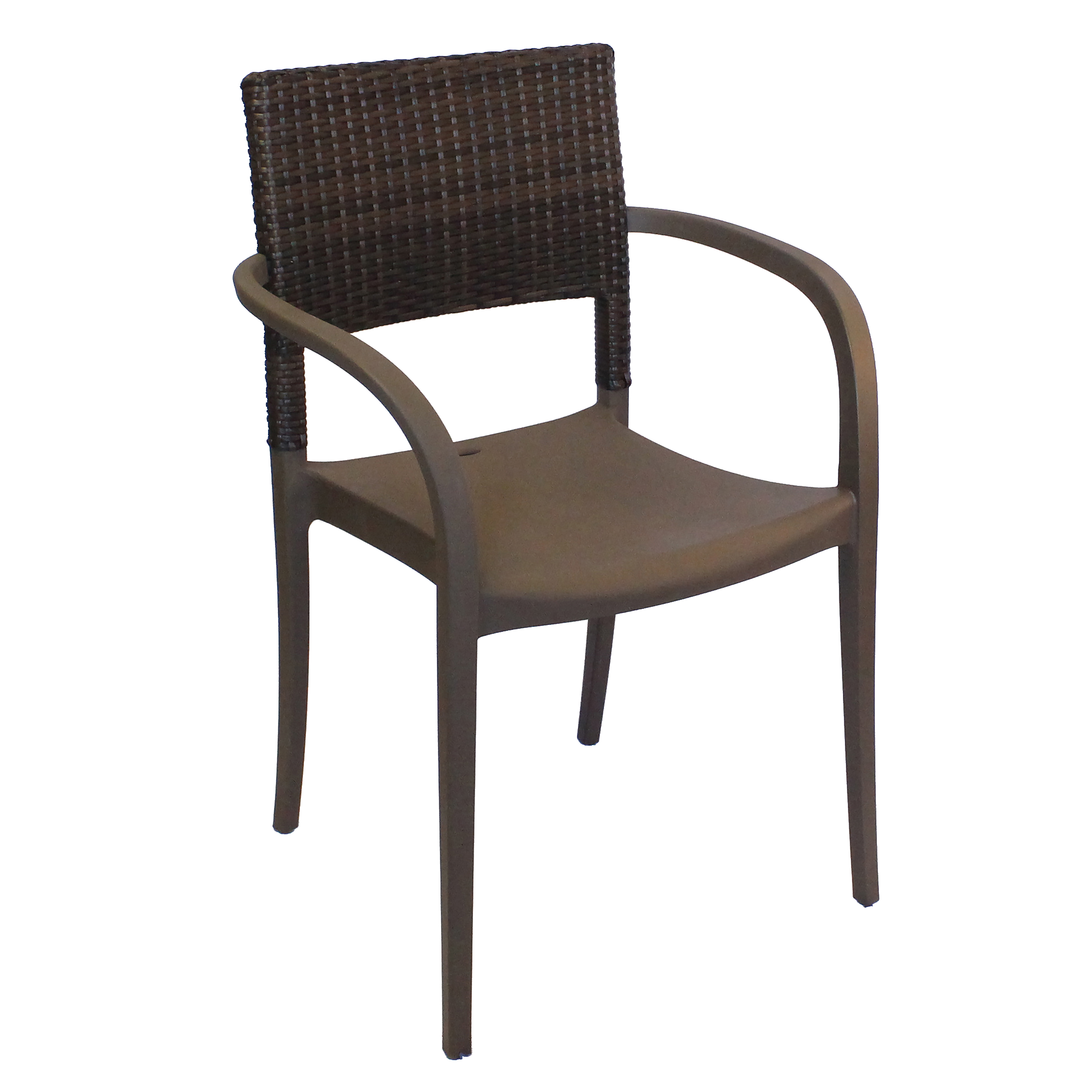 Grosfillex US926037 chair, armchair, stacking, outdoor