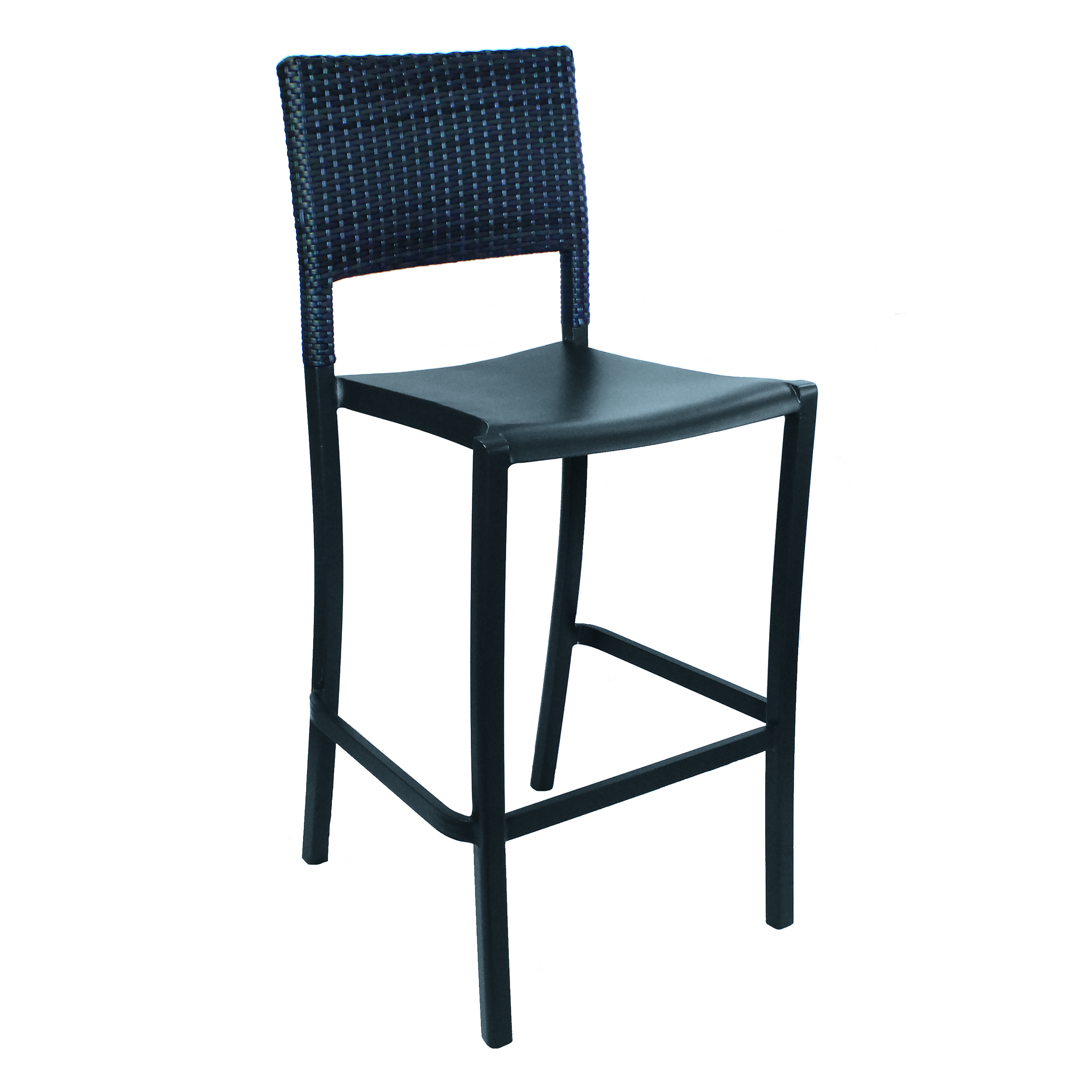 Grosfillex US927002 bar stool, stacking, outdoor