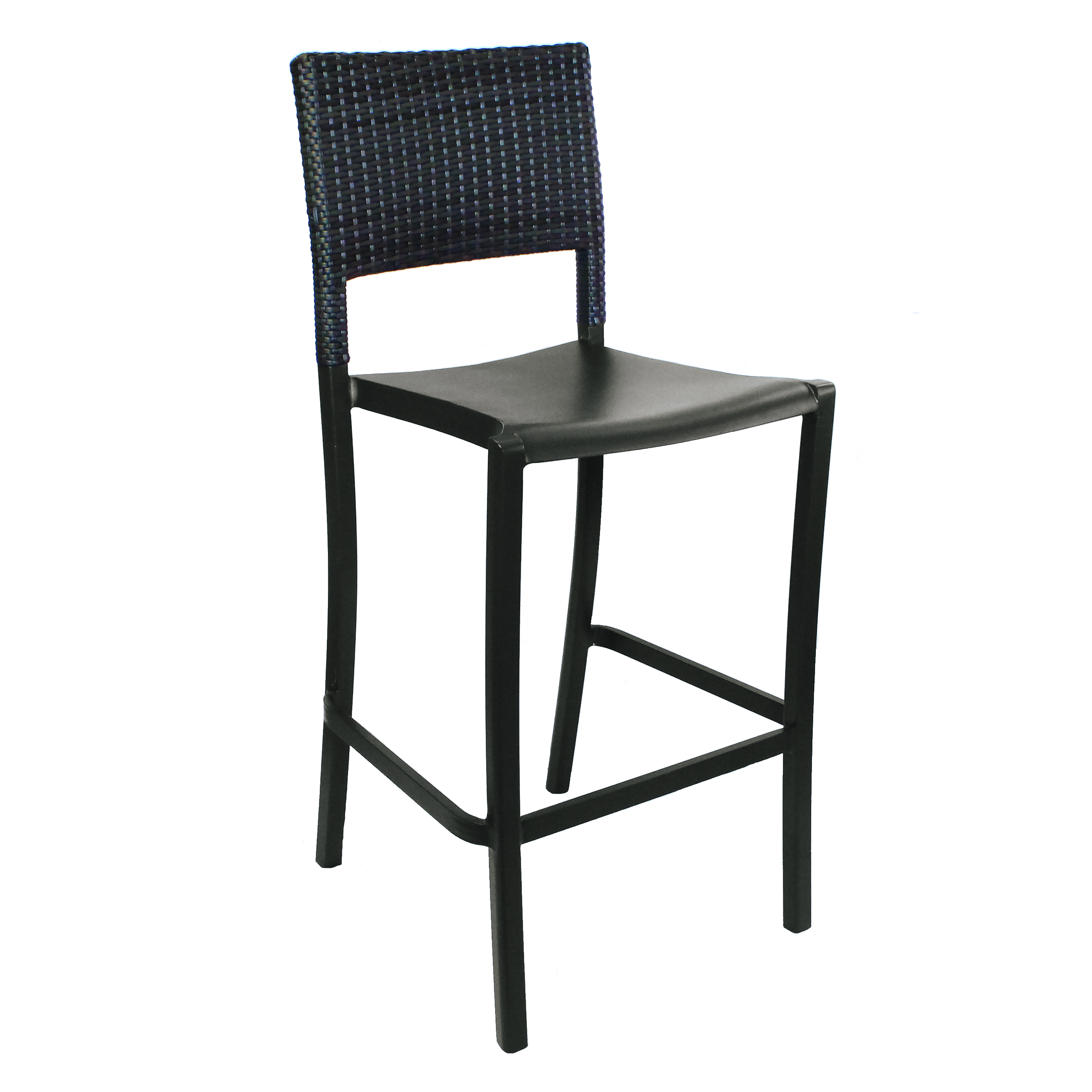 Grosfillex US927037 bar stool, stacking, outdoor