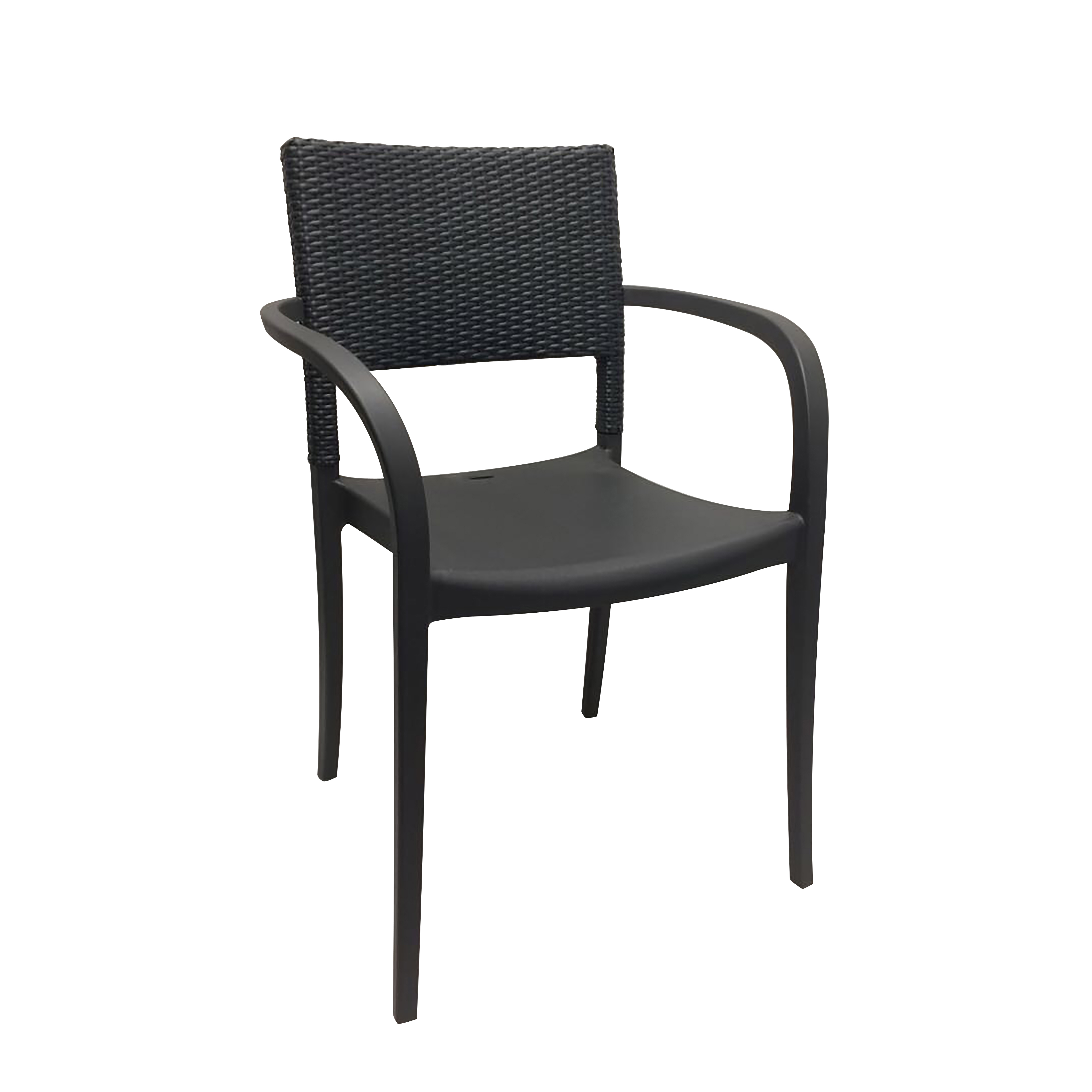 Grosfillex US986002 chair, armchair, stacking, outdoor