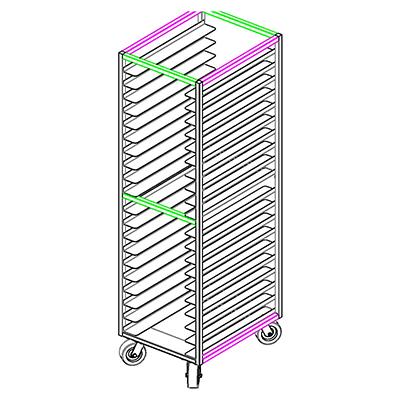 GSW USA ASR-2022WH pan rack, bun