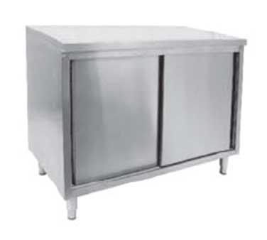 GSW USA CTD-P2448S work table, cabinet base sliding doors