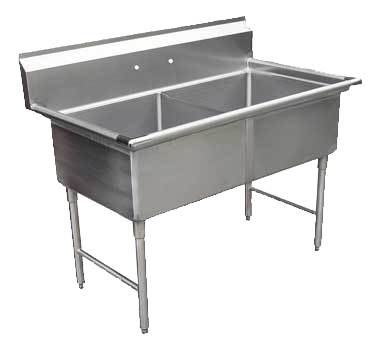 GSW USA SH24242N sink, (2) two compartment