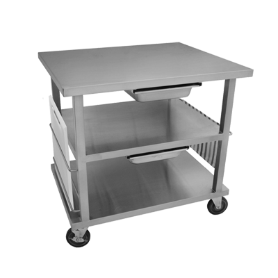 GSW USA WT-MF3630 pan rack with work top, mobile