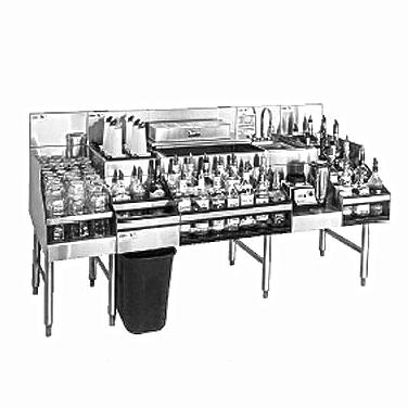 Glastender ALL-66C underbar ice bin/cocktail station, blender station