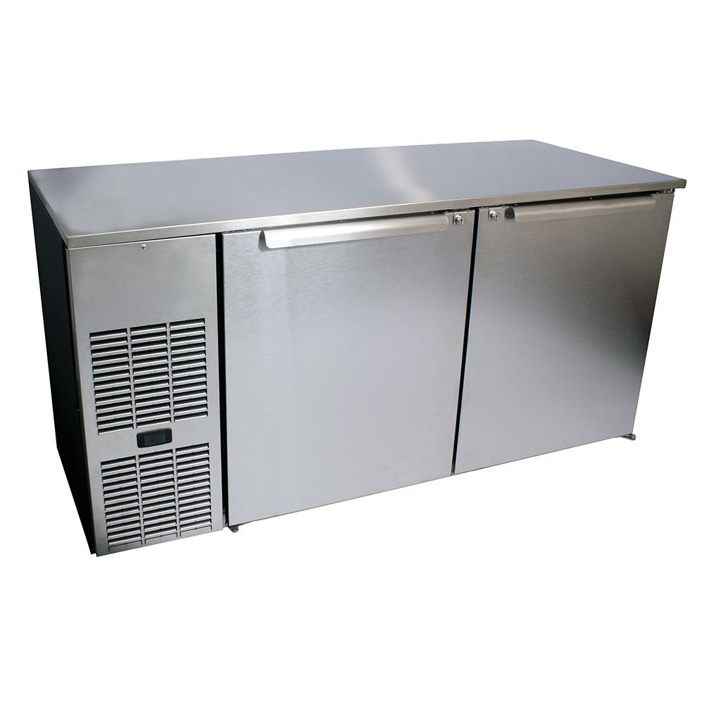 Glastender C1FL72 back bar cabinet, refrigerated