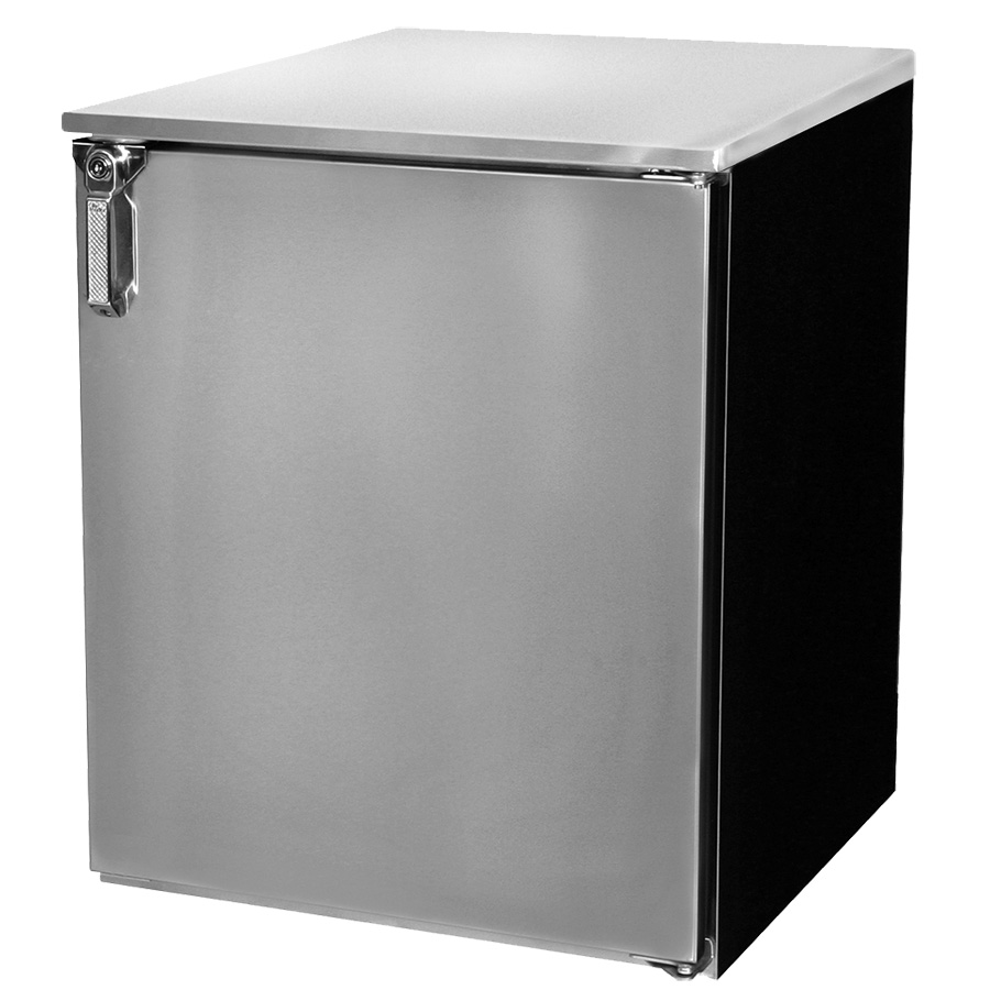 Glastender C1RL72 back bar cabinet, refrigerated