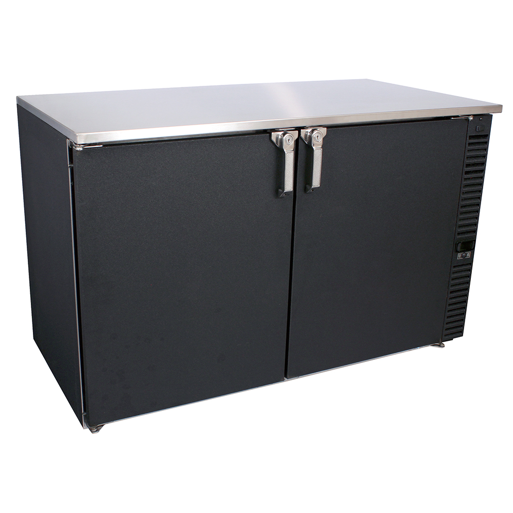 Glastender C1SL48 back bar cabinet, refrigerated