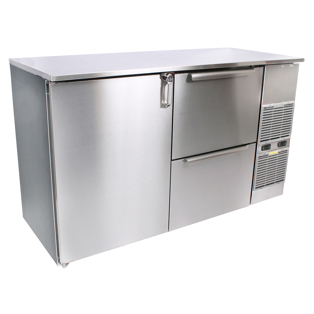 Glastender C2FB84 back bar cabinet, refrigerated