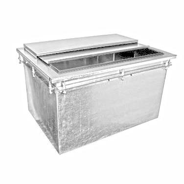 Glastender DI-IB24-CP10 ice bin, drop-in