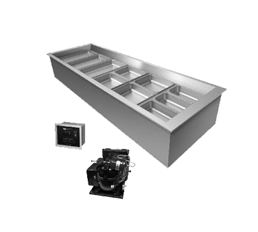 Hatco CWBR-2 cold food well unit, drop-in, refrigerated