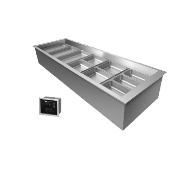 Hatco CWBX-3 cold food well unit, drop-in, refrigerated