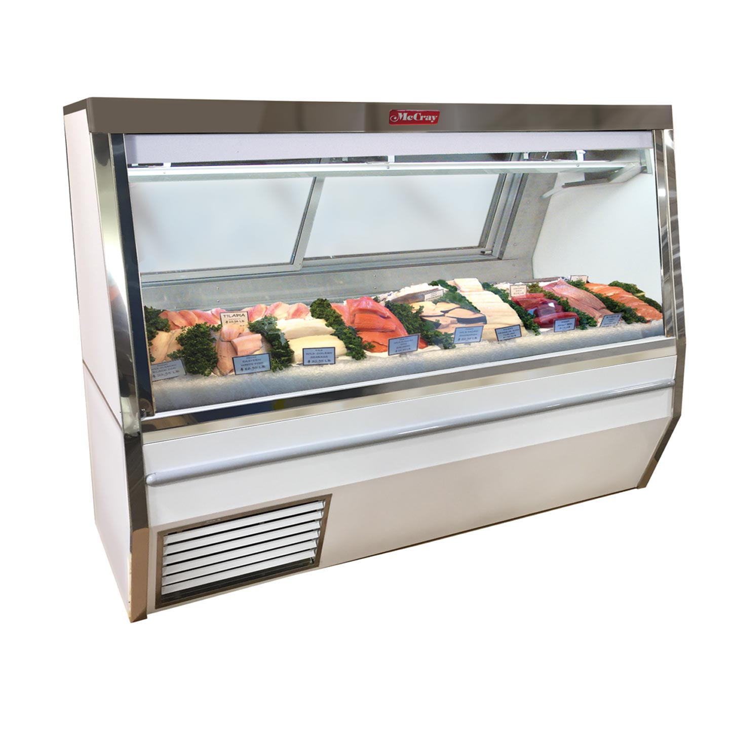 Howard-McCray R-CFS34N-4-LED display case, deli seafood / poultry
