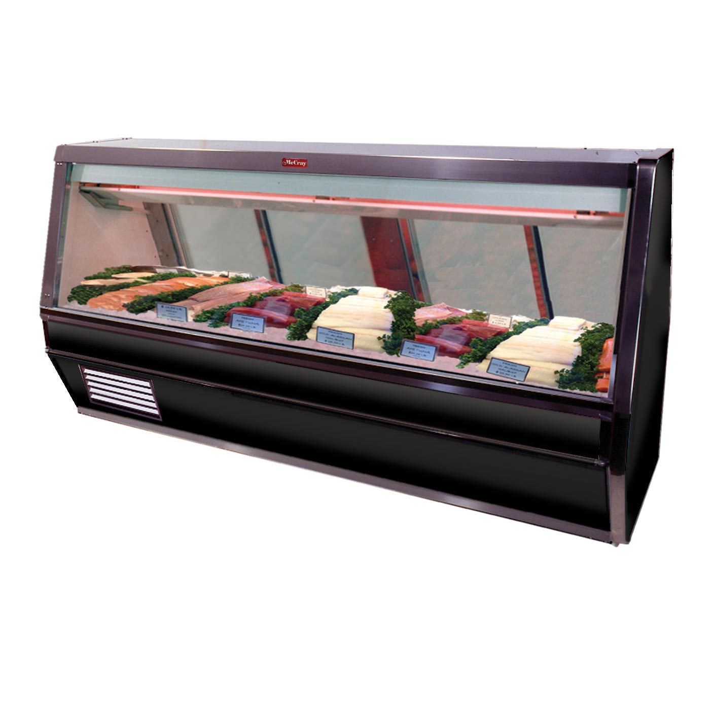 Howard-McCray R-CFS40E-4-BE-LED display case, deli seafood / poultry